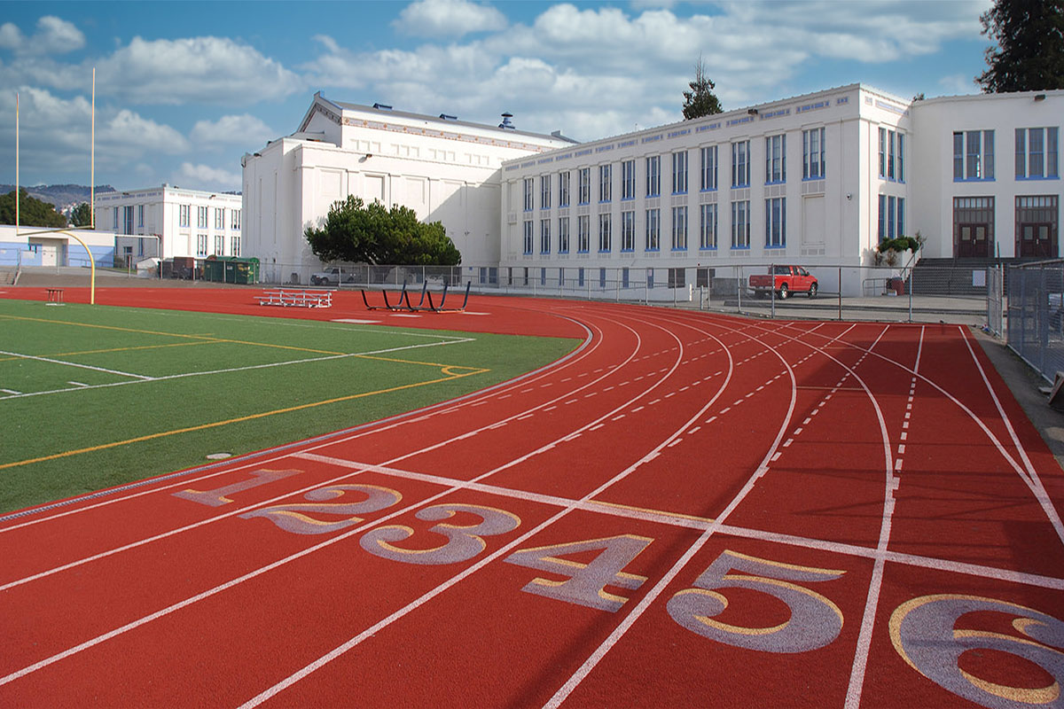 Oakland Technical High School Building & Sports Field
